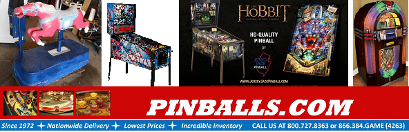Pinballs for sale, Arcade Games, Kiddie Rides, Redemption Games New & Used!!