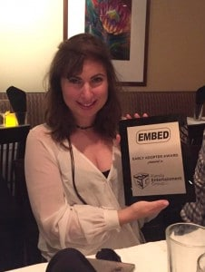 Silvia Lintner Accepts Embed Early Adopter Award for FEG