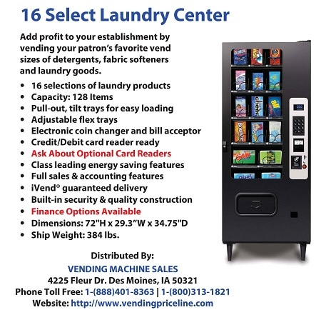 16 Select Laundry Center - VendihngPriceline.com