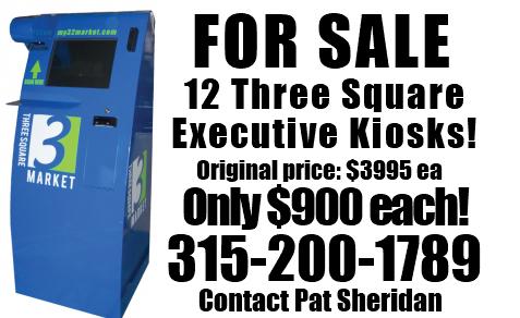 3 Square Exec Kiosks for sale