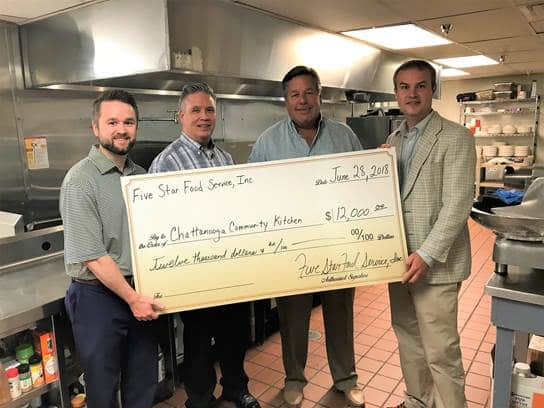 Five Star Food Service Donates