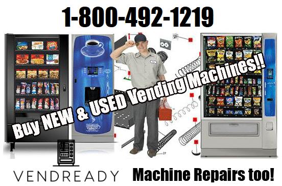 VENDREADY Vending Machines, Parts, Repair