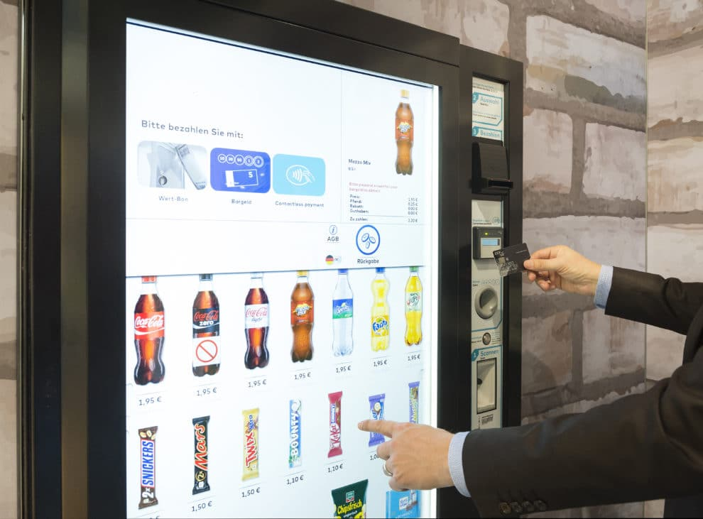 Touch-screen-vending-machine