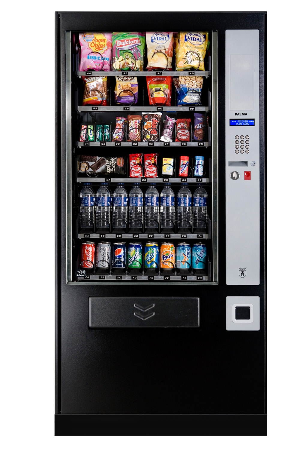 Snack and can vending machine