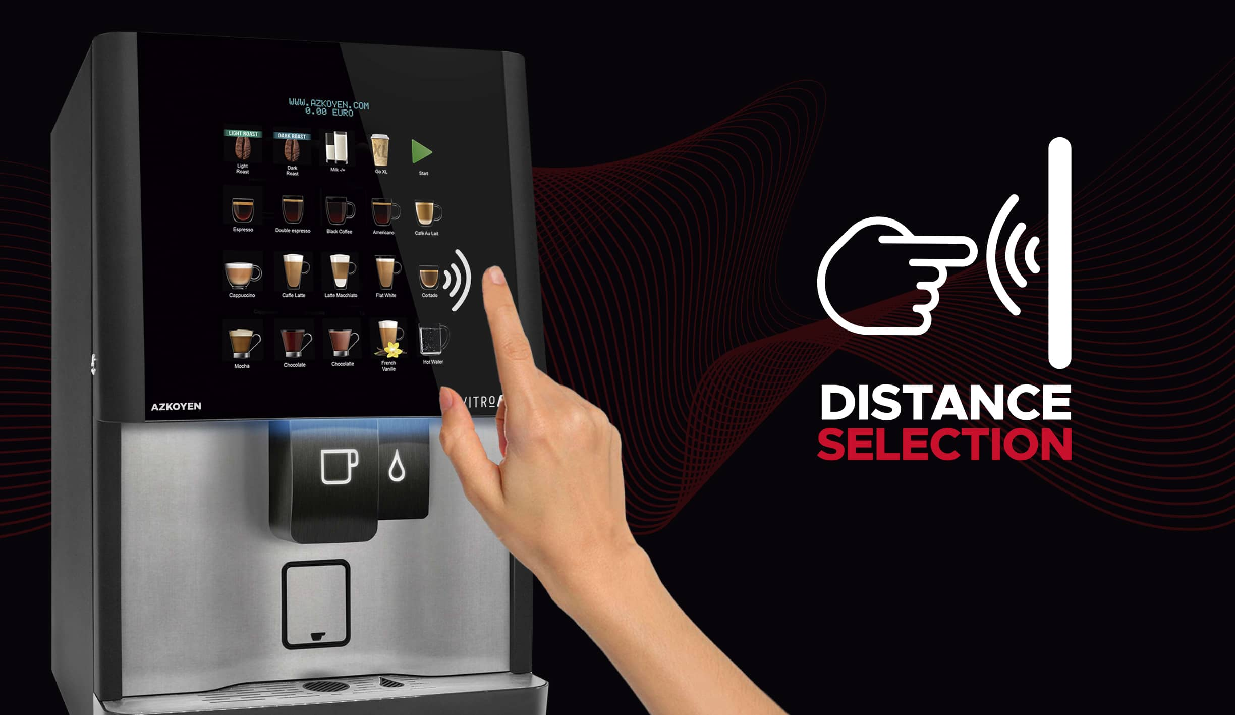 AzoykenAir Touch, Touchless Coffee Machine