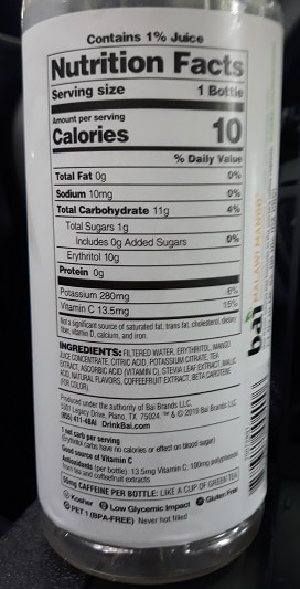 Bai Drinks Nutrition Facts