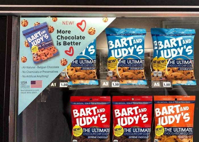Bart and Judys Chocolate Chip Coolies for Vending!