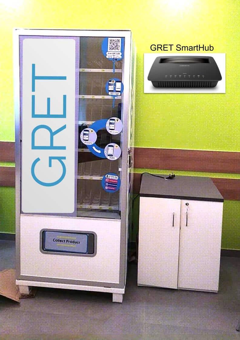 Gret Smart Vending Cashless, Touchless solution
