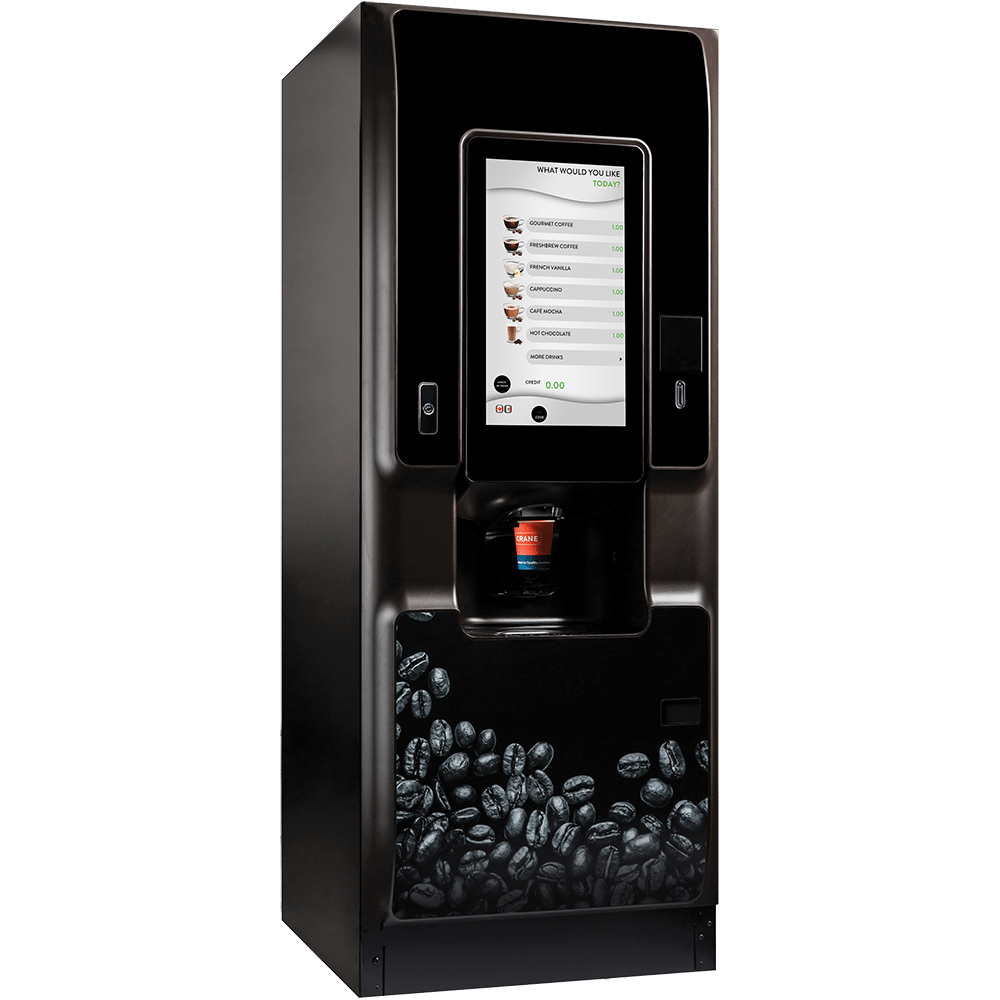 Crane's New COTI Coffee Vending Machine