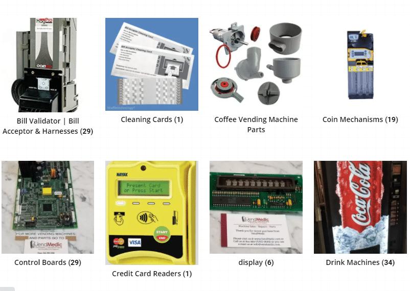 vending machine parts