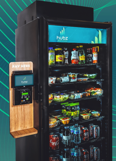 hubz merchandise cooler vending