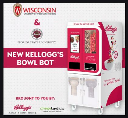 Kelloggs Cereal Vending Machine