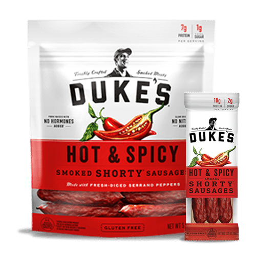 Dukes Smoked Sausages Hot Spicy