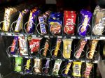 Snacks in vending machine
